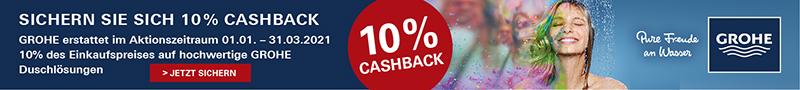 Sichern Sie sich 10% Cashback